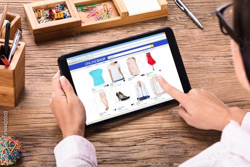 Businesswoman Shopping Online