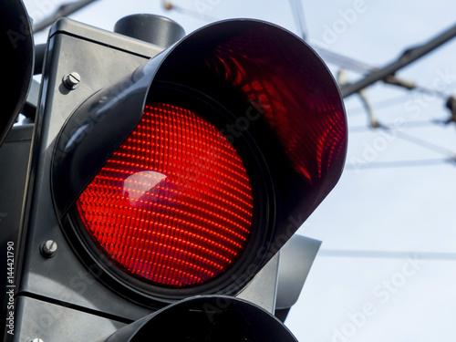 Rote Verkehrsampel