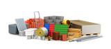 building materials. 3D illustration - 144425551