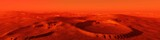 Landscape of Mars, Martian panorama, panorama of Mars, mountain landscape