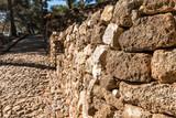 Mauer und WEg auf Burg von Denia