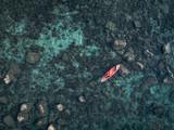 Kayak in the blue ocean of Koh Rong