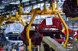 Car bodies on the production line - 144468527