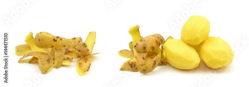 Spoed canvasdoek 2cm dik Verse groenten ziemniaki obrane i obierki