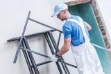 Fototapeta Worker Preparing Scaffolding