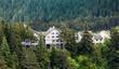 Houses on Stilts in Alaskan Wilderness