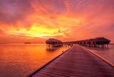 Sunset at Maldivian beach