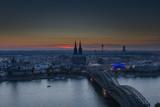 Deutzer bridge in Cologne at night