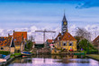 The lock of Hindeloopen. The Netherlands.