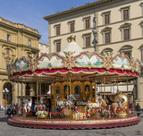 Antique carousel, Florence, Tuscany, Italy