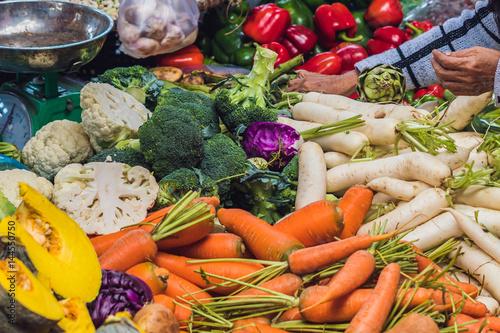 Foto op Plexiglas Indonesië The variety of vegetables in the Vietnamese market
