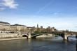 Paris, Seine and Louvre