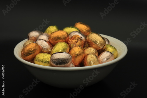 Easter eggs in a bowl