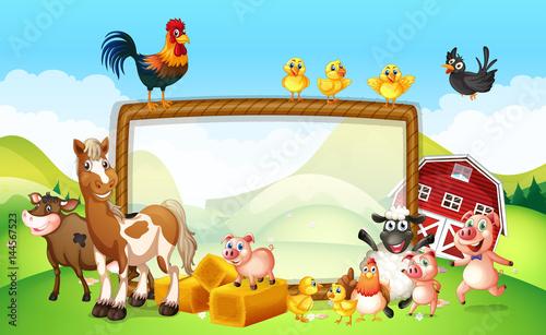Aluminium Kids Frame design with farm animals