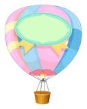 Colorful balloon flying on white background