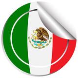 Mexico flag in sticker design