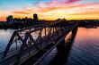 Alexandra Bridge in Ottawa Sunset