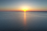 Aerial Sunset over Delaware Bay - 144580720
