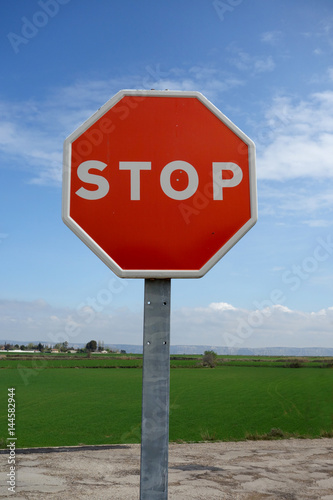 Stop signal in the middle of the country