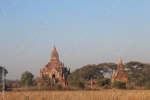 Poster Bagan Burma Burmese Myanmar Buddhist Buddhism Buddha Shrine Shrines Temple Templ