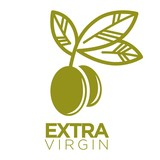Olive oil extra virgin flat logotype on white. Vector illustration - 144588596