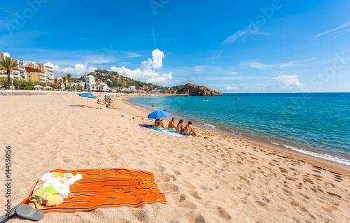 plage de Blanes, Costa Brava, Espagne  - 144596156