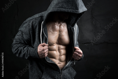 Man with great abs Poster