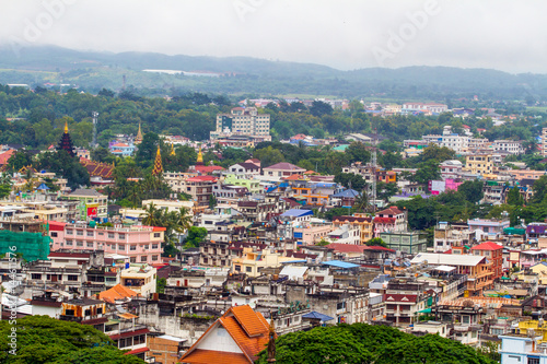 Top View of Ta Chi Lek City in Myanmar