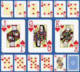 Blackjack Hearts Suite French Style. - 144620196