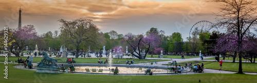 Jardin des Tuileries au crépuscule  - 144629321