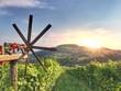 Leinwandbild Motiv Klapotetz an südsteirischer Weinstrasse, Weinberge in Österreich