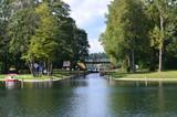 Śluza za Kanale Augustowskim/Sluice on Augustowski Canal, Podlasie, Poland - 144632167