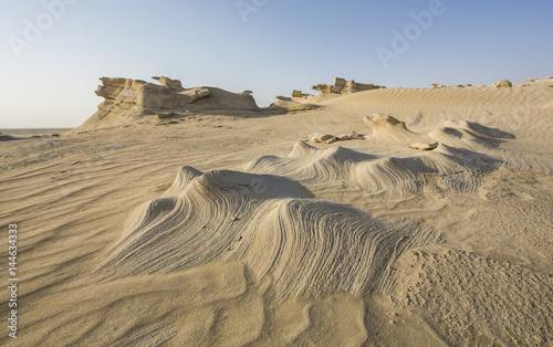 Deurstickers Abu Dhabi sand formations in a desert near Abu Dhabi