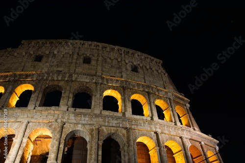 Colosseum illuminated in Rome.