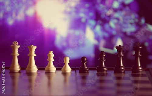 Juliste Chess strategy concept is on the bright background