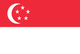 Fototapety Flag of Singapore, Singapura, National flag of Singapore,