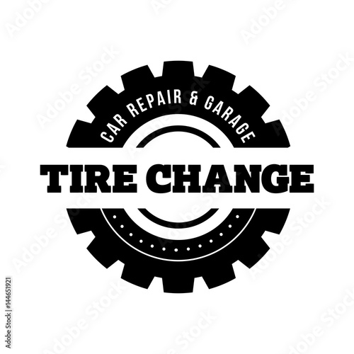 Tire Change vintage stamp
