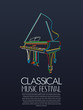 Classical music event poster - 144663524