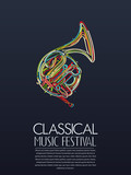 Classical music event poster - 144663526