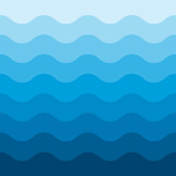 Abstract blue wave pattern background - 144669594