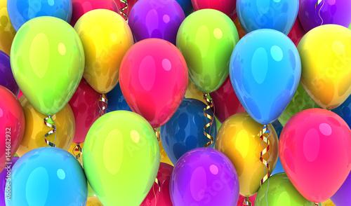 Many balloons background