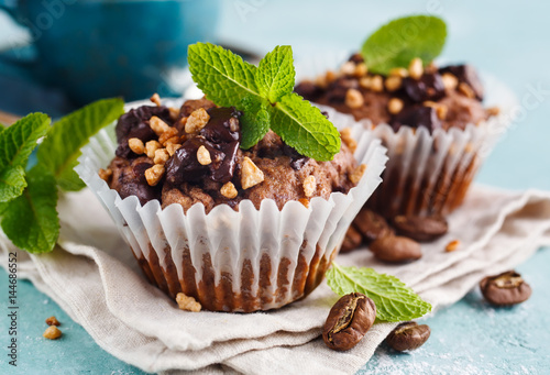 Chocolate Muffins close-up - 144686552
