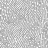 Seamless polka dots pattern. White and black colored vector illustration.