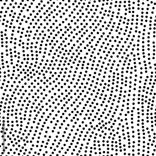 Materiał do szycia Seamless polka dots pattern. White and black colored vector illustration.