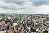 Aerial view of Antwerp in the harbor of Antwerp, Belgium
