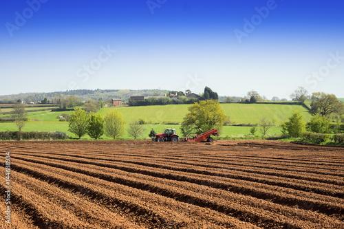red sandstone soil farm warwickshire midlands england uk