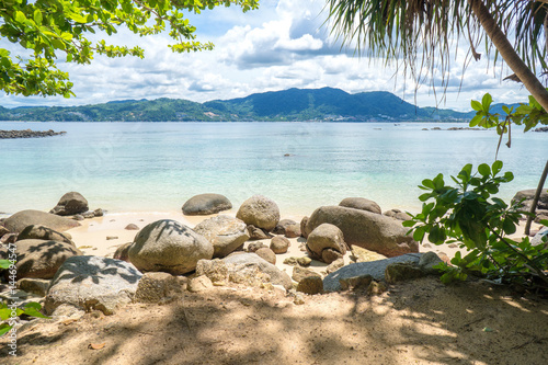 Beautiful sunny beach. Vacation concept