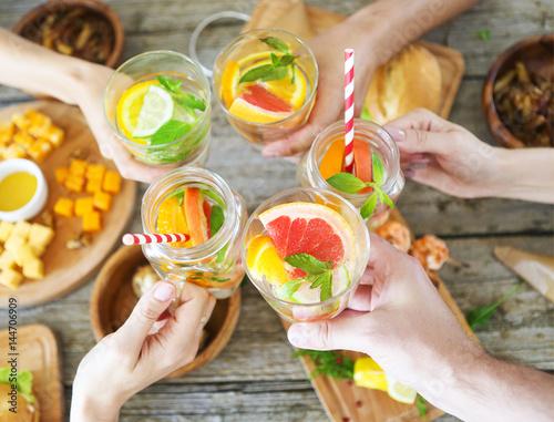 Family dinner with lemonade - 144706909