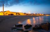 Twilight view of beach at Badalona