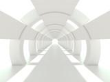 Bright white corridor or tunnel